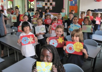 Year Two's paper cutting masterpieces.